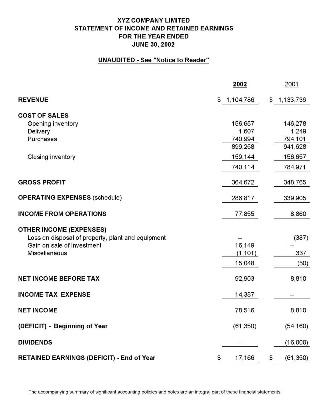 financial statement example - android-app.info